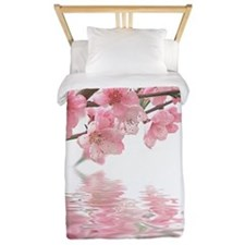 Flowers Water Reflection Twin Duvet