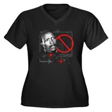 stopkony3000 Women's Plus Size Dark V-Neck T-Shirt