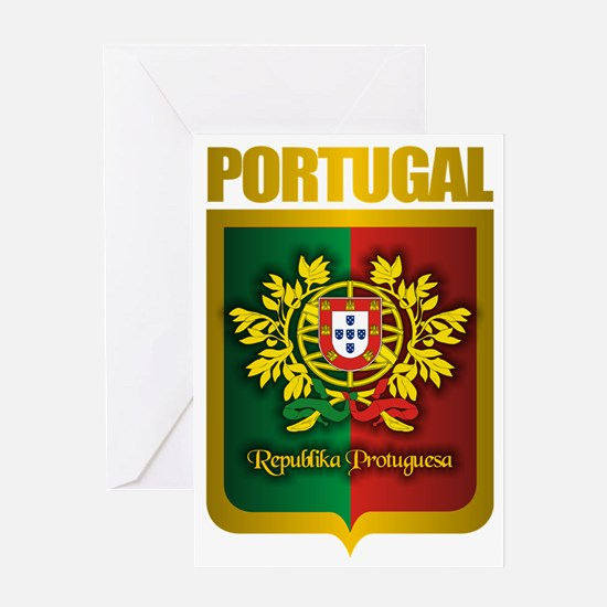 Portuguese Gold Greeting Card