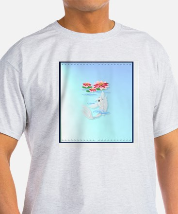 Heart Jewel Silver Koi-Pink and Pink T-Shirt