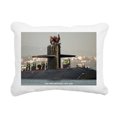 philadelphia large frame Rectangular Canvas Pillow