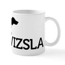 8x10_silhouette-VIZSLA_black_noBG Small Mug