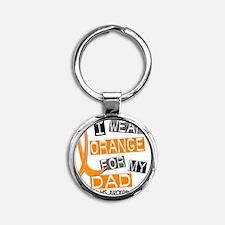D DAD Round Keychain