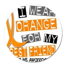 D BEST FRIEND Round Car Magnet