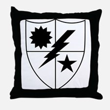 75th Ranger DUI Black and White Throw Pillow