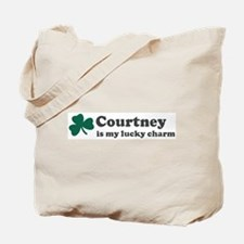 Courtney is my lucky charm Tote Bag