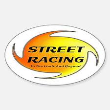 Street Racing Oval Decal