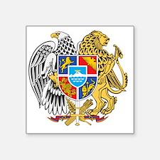 "armenia_coa_n16 Square Sticker 3"" x 3"""