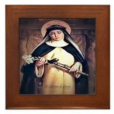 St Catherine of Siena Framed Tile