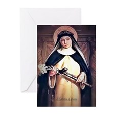 St Catherine of Siena Greeting Cards (Pk of 20)