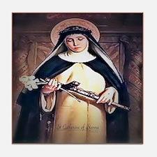 St Catherine of Siena Tile Coaster