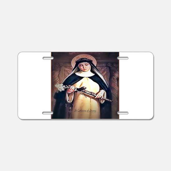 St Catherine of Siena Aluminum License Plate