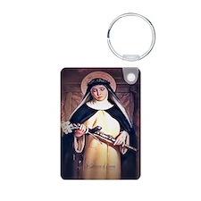 St Catherine of Siena Aluminum Photo Keychain