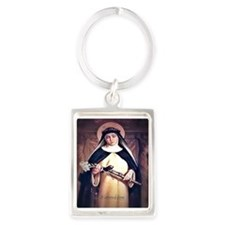 St Catherine of Siena Portrait Keychain