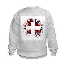 WHITE STARBURST CROSS Sweatshirt