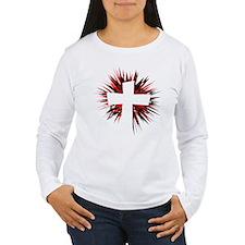 WHITE STARBURST CROSS T-Shirt