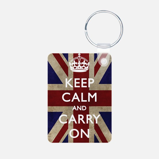 large_KEEP_CALM_UNION_JACK Keychains