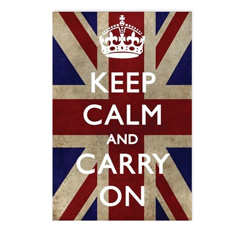 large_KEEP_CALM_UNION_JAC Postcards (Package of 8)