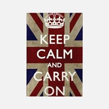 large_KEEP_CALM_UNION_JACK Rectangle Magnet