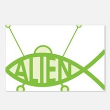 Alien UFO Postcards (Package of 8)