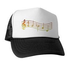 Rues Whistle Fire ROUND Trucker Hat