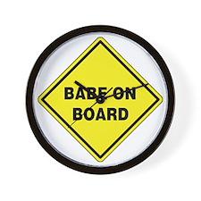 Babe On Board Wall Clock