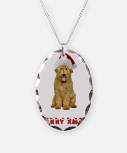 Goldendoodle Christmas Necklace