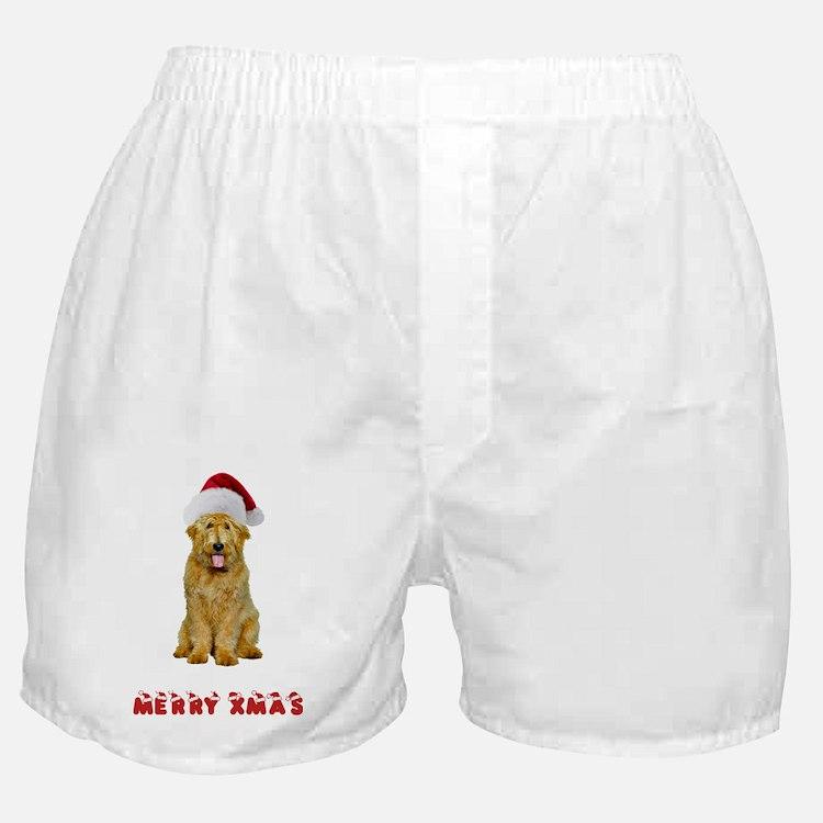 Goldendoodle Christmas Boxer Shorts