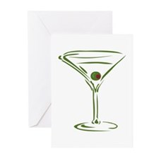 Martini Greeting Cards (Pk of 10)