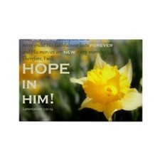 Hope In Him Rectangle Magnet