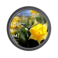 Hope In Him Wall Clock