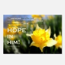 Hope In Him Postcards (Package of 8)