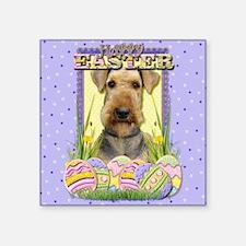 "EasterEggCookiesAiredaleCP Square Sticker 3"" x 3"""