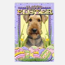 EasterEggCookiesAiredale Postcards (Package of 8)
