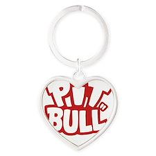 pitbull Heart Keychain
