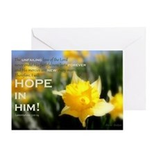 4x6 PNG- Daffy Delight: HOPE IN HIM  Greeting Card