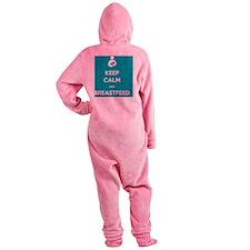 Breastfeed Turq Footed Pajamas