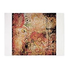 paisley grunge montage 5'x7'Area Rug