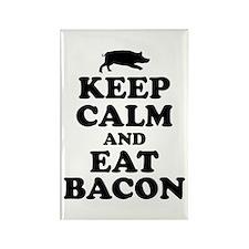 Keep Calm Eat Bacon Magnets