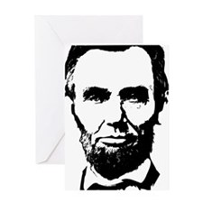Abe Lincoln Silhouette Greeting Card