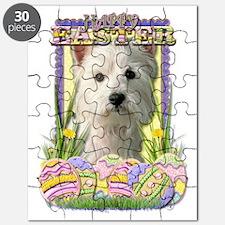 EasterEggCookiesWestHighlandTerrierCP Puzzle