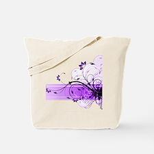 purple floral band Tote Bag