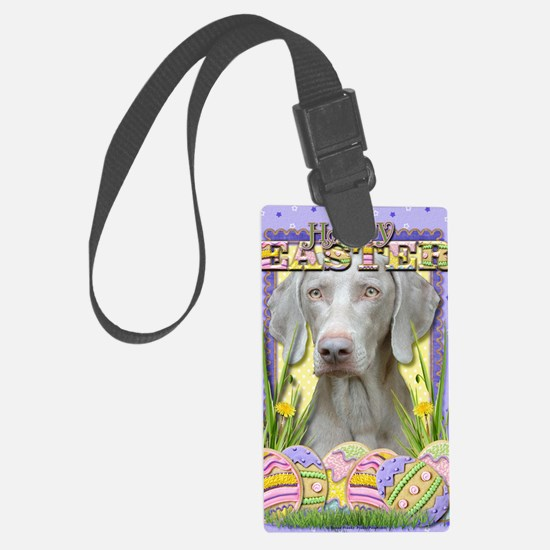 EasterEggCookiesWeimeraner Luggage Tag