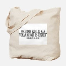 SocraTees - Once Made Equal To Man, Tote Bag