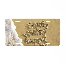 sandy salty happy Aluminum License Plate