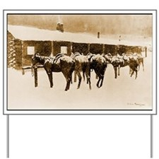 Cow Pony Pathos, 1897 Yard Sign