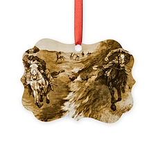Dragging a Bulls Hide over a prai Ornament