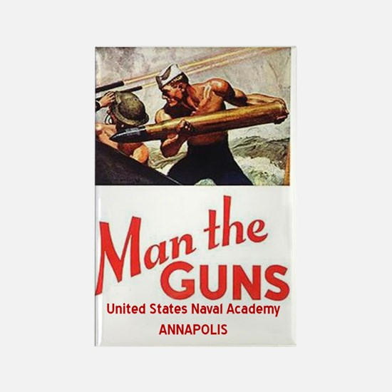 USNA Guns Rectangle Magnet