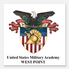 "USMA 2 Square Car Magnet 3"" x 3"""