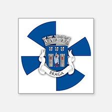 """Braga (necklace rd) Square Sticker 3"""" x 3"""""""